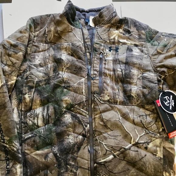 7a676d89d5807f Under Armour Jackets & Coats   Coldgear Camo Wool Coat Mens Large ...